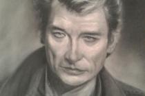 Portrait d'après photos (Johnny halyday) sur commande