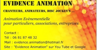 Carte de visite EVIDENCE ANIMATION