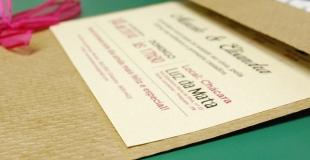 Faire-part original pour une invitation de mariage personnalisée