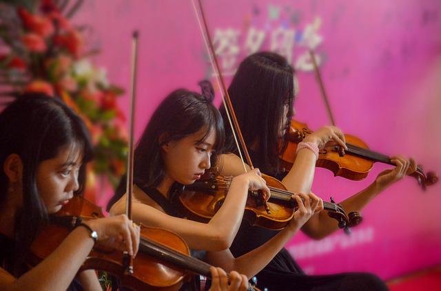 Quatuor à cordes de musique classique pour diner d'entreprise dans un château