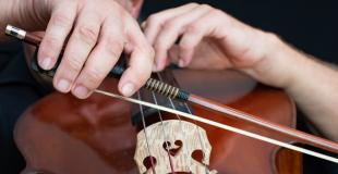 Accueil musical soirée d'entreprise : violoncelliste ou quatuor à cordes