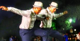 Aurel et Sam danseurs de claquettes à Montmartre