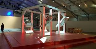 Showroom en cours de montage - Conception Projet par A.Tari - Fabrication & Montage par Mythiqs
