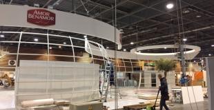 Montage du stand Benamor au SIAL / Conception Projet par Cap Linéa - Fabrication & Montage par Mythi