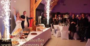 machine à étincelles buffet mariage