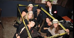 Les enquêteurs sur la scène de crime