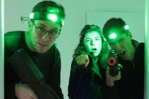 le commando réalise un laser tag sur l'événement d'entreprise