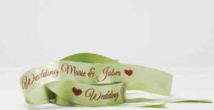 Ruban personnalisé mariage