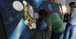 Fresque participative pour 150 personnes à Toulouse (31)